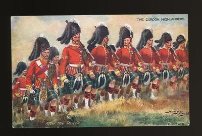 Harry Payne Gordon Highlanders postcard