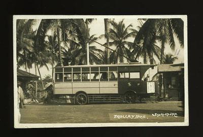 Singapore Trolley Bus postcard