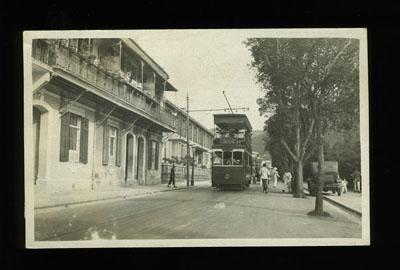 Hong Kong Shell Street Tram Real Photo postcard